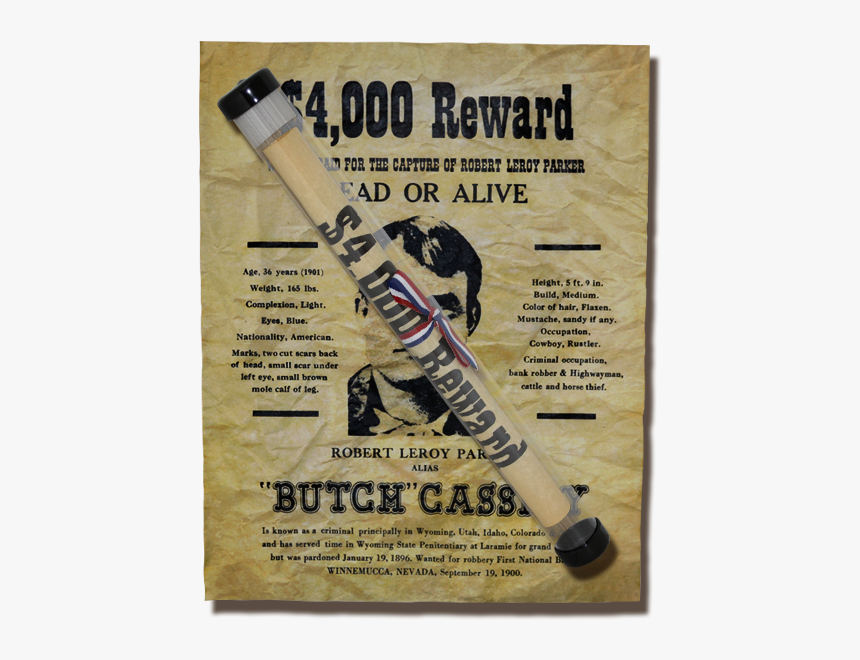 Butch Cassidy Wanted Poster, HD Png Download, Free Download