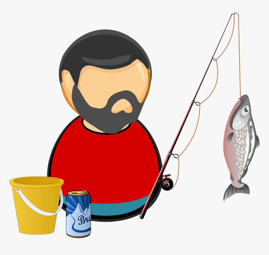Silhouette Of Fisherman At Getdrawings - Clipart Fisherman Png, Transparent Png, Free Download