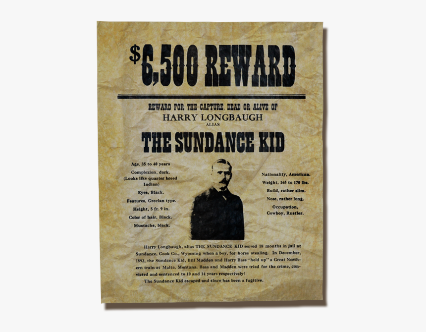 Authentic Wanted Posters Old West, HD Png Download, Free Download