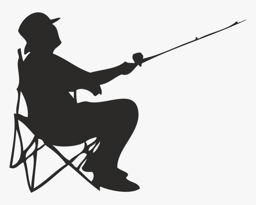 Fisherman Fishing Angling - Silhouette Of Man Fishing, HD Png Download, Free Download