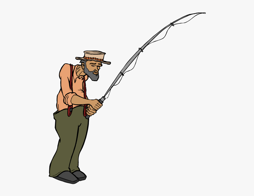 Transparent Fisherman Clipart - Cartoon Fisherman Transparent Background, HD Png Download, Free Download