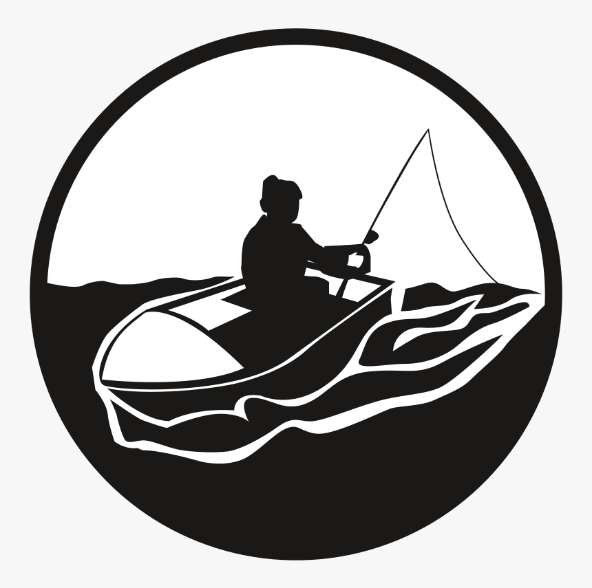 Fisherman - Fisherman In The Boat Clipart Black, HD Png Download, Free Download