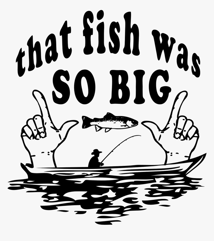 Funny Fishing Clip Art, HD Png Download, Free Download