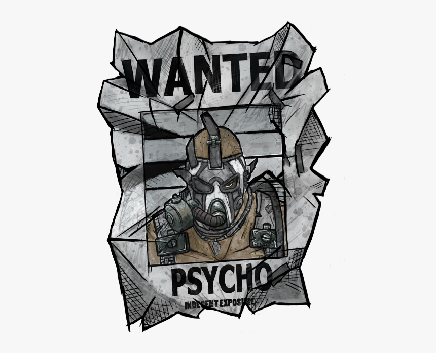 Krieg's Wanted Poster On The I Wanna Be Wanted Head - Borderlands 2 Krieg Wanted Poster, HD Png Download, Free Download