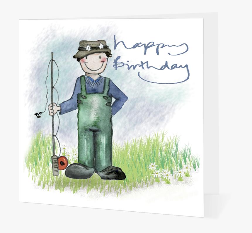 Fisherman Happy 5409cd15b25e4 - Happy Birthday Fisherman, HD Png Download, Free Download