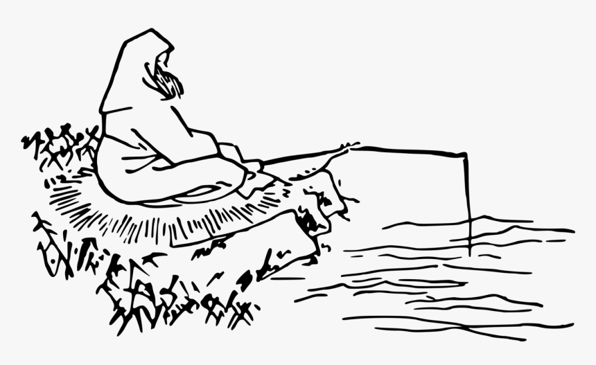 Line Art,art,area - Drawing Pictures For Fisherman, HD Png Download, Free Download