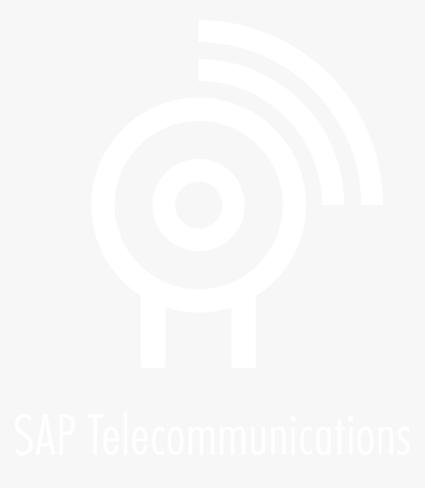 Sap Telecommunications Logo Black And White - Johns Hopkins Logo White, HD Png Download, Free Download