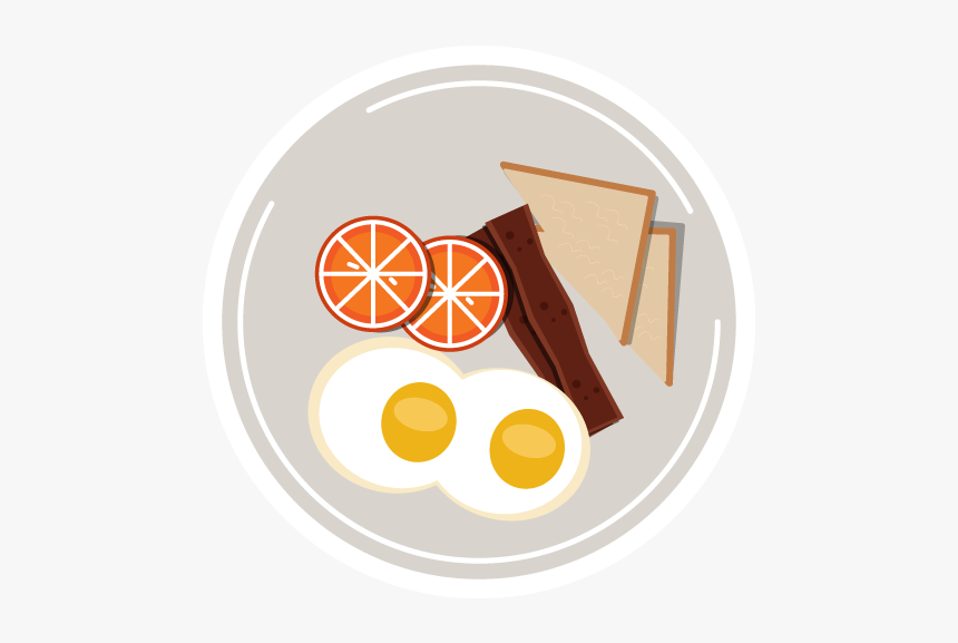 Food Icon Art Illustration Vector Plate Food Food App - Dish, HD Png Download, Free Download
