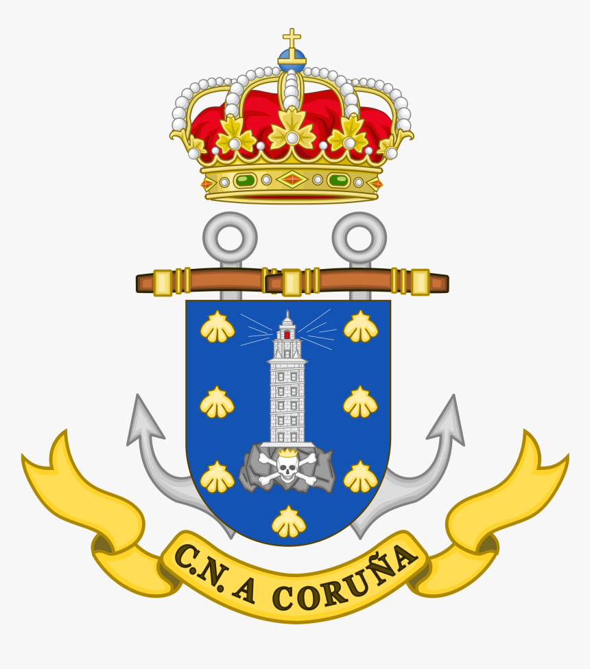 The City Crest Of A Coruña - Coat Of Arms Of Barcelona, HD Png Download, Free Download