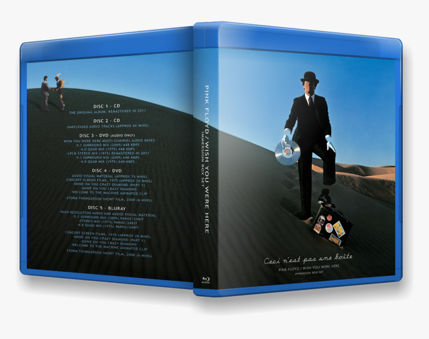 This Image Has Been Resized - Pink Floyd Wish You Were Here Album Back Cover, HD Png Download, Free Download