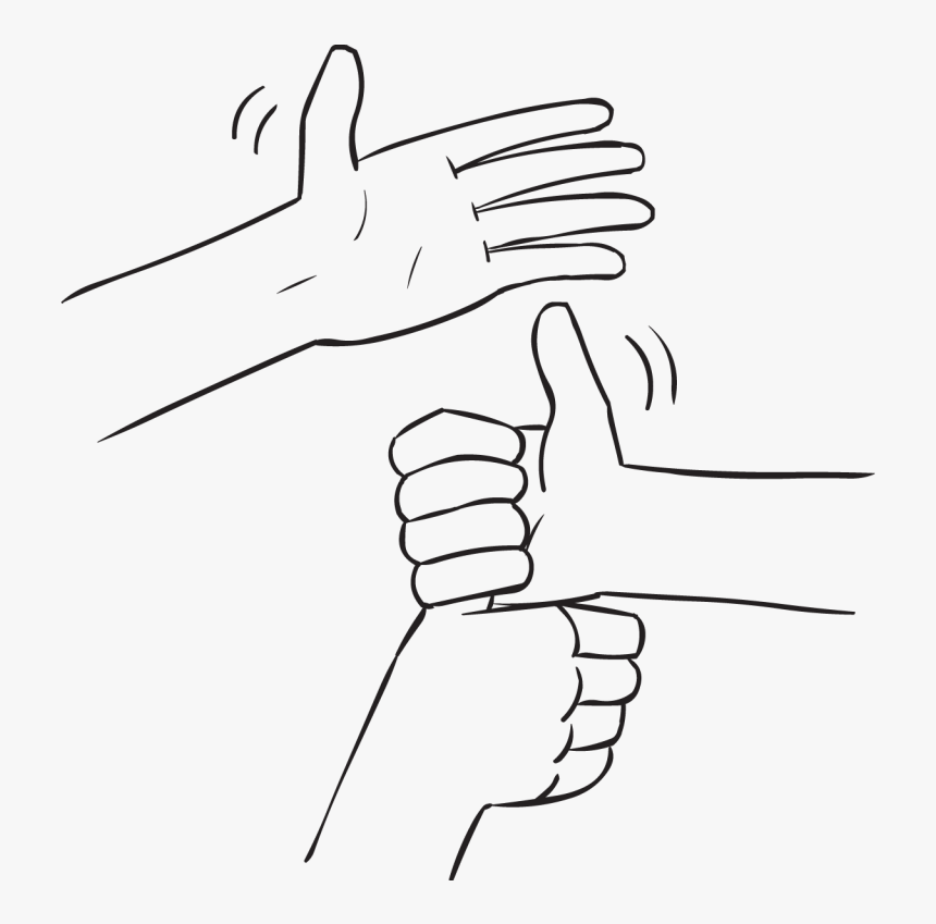Three Hands Forming A Stack Of Joined Hands By Holding - Sketch, HD Png Download, Free Download