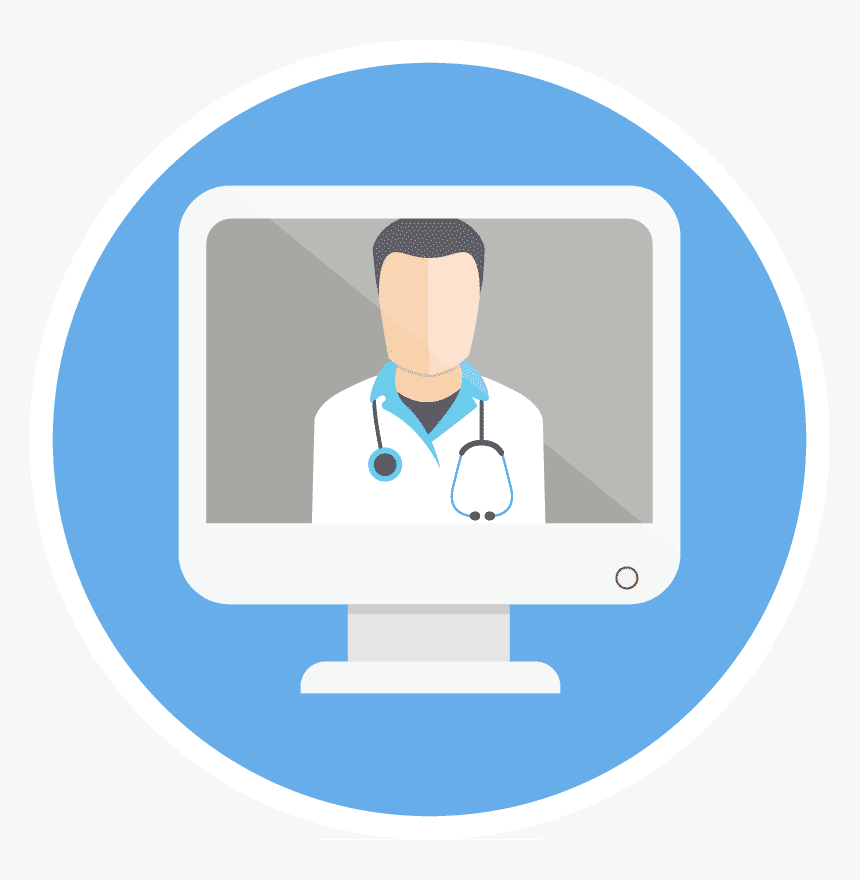 Pediatric Telemedicine For Kids - Doctor Online Icon Png, Transparent Png, Free Download