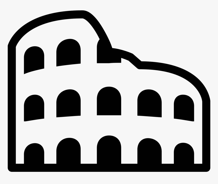 The Roman Colosseum Viewed From The Side, Long Abandoned, HD Png Download, Free Download