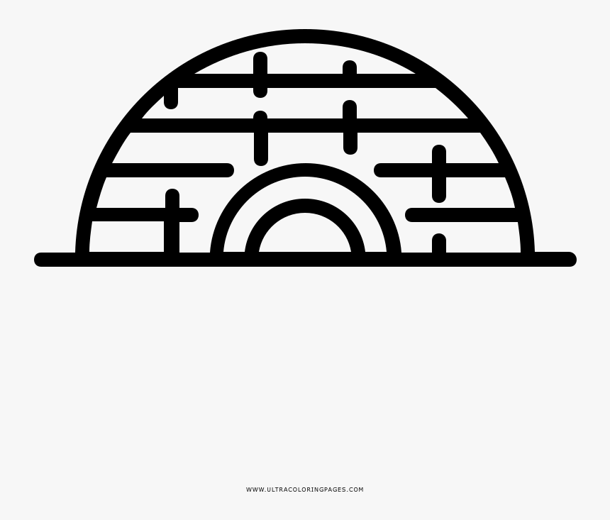 Igloo Coloring Page, HD Png Download, Free Download