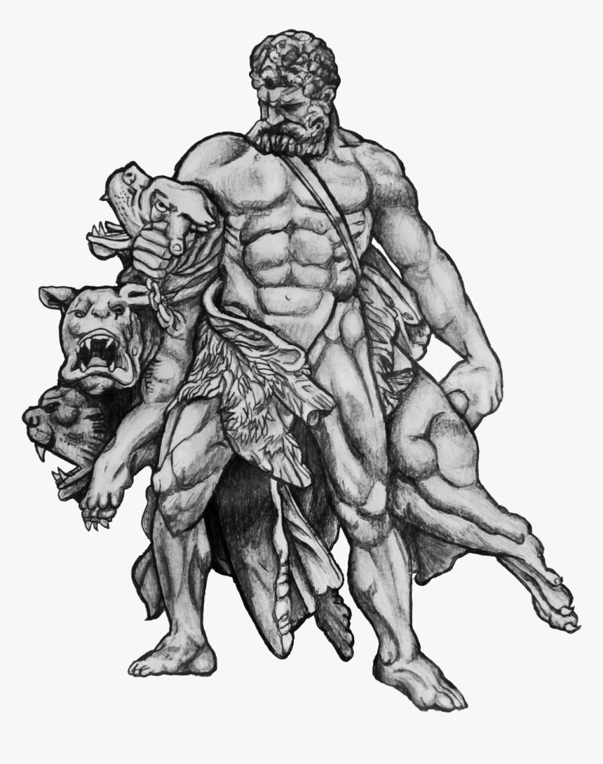 Hercules Cerberus Tattoo Design Png Hercules Tattoo, Transparent Png, Free Download