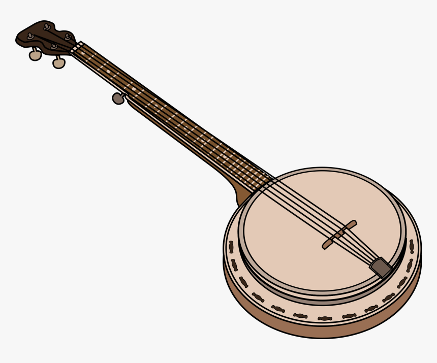 Clip Art Banjo Vector Graphics Illustration Openclipart, HD Png Download, Free Download