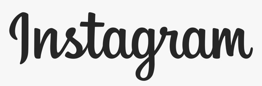Instagram Logo - Instagram Logo Text Png, Transparent Png, Free Download