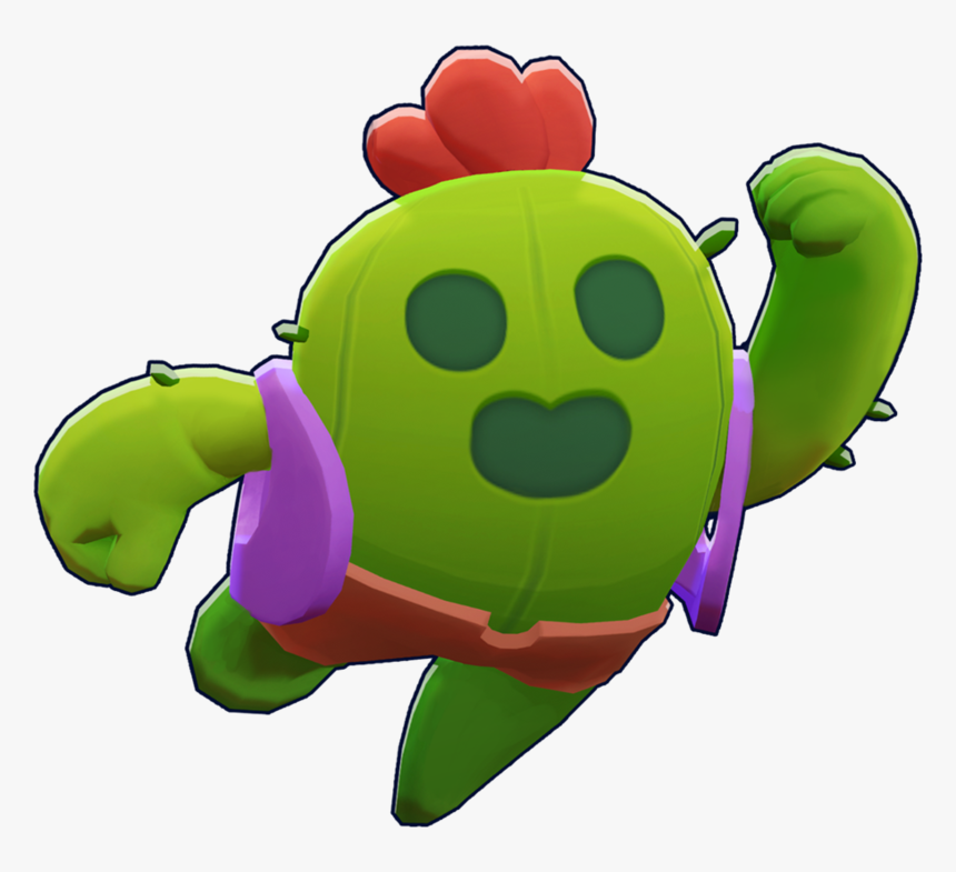Turtle Plant Clash Brawl Stars Of Royale - Brawl Stars Spike Png, Transparent Png, Free Download