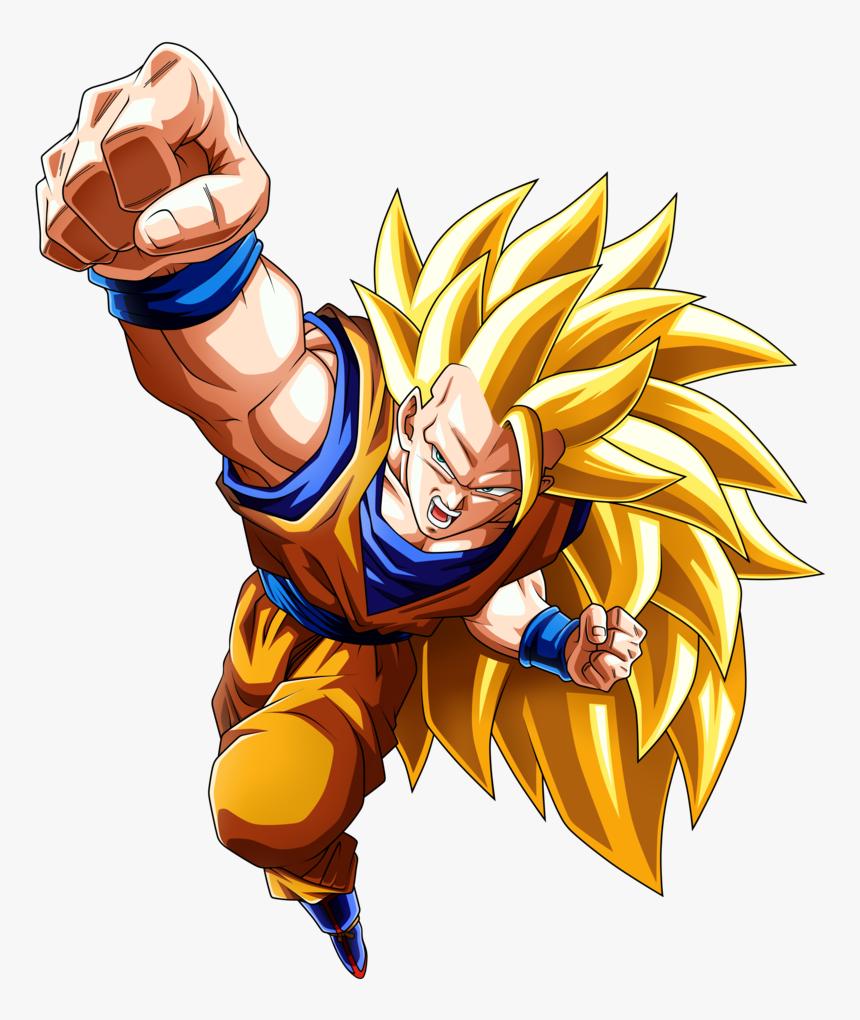 Goku Clipart Gambar - Son Goku Super Saiyan 3, HD Png Download, Free Download