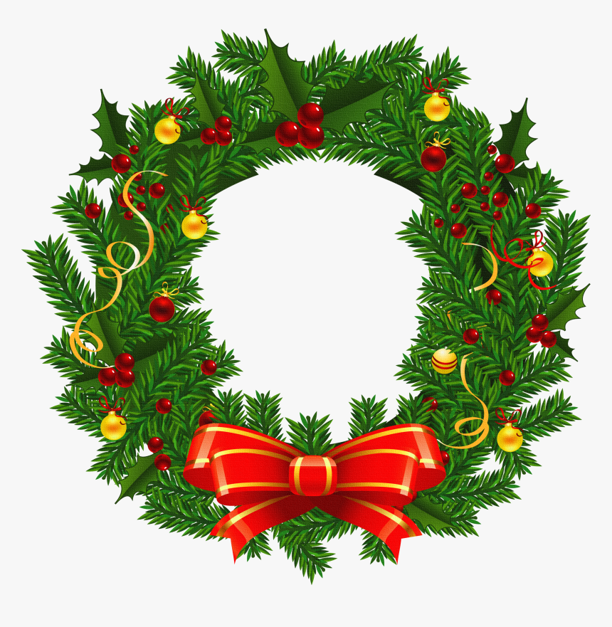 Xmas Stuff For Christmas Wreath Images Clip Art - Christmas Wreath Png, Transparent Png, Free Download