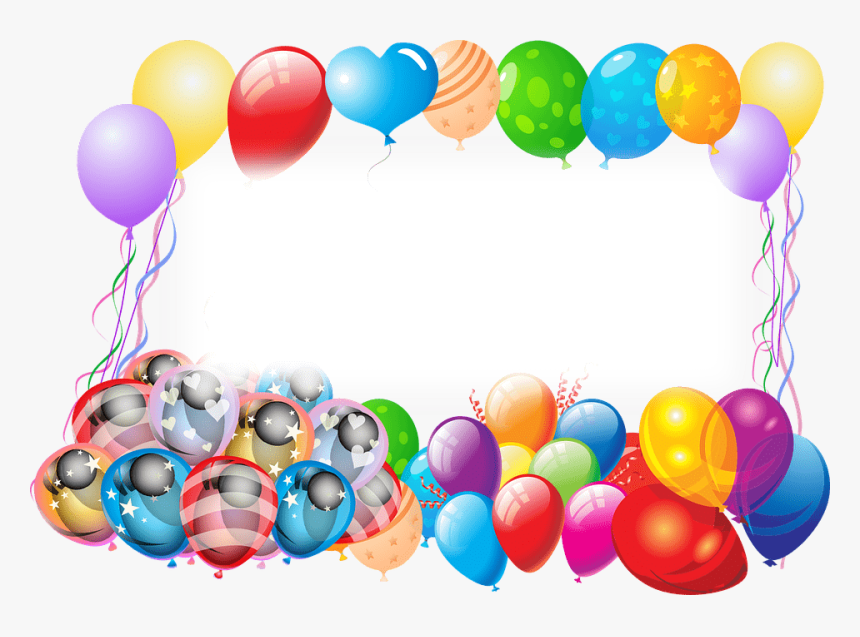 Happy Birthday Frame With Balloons - Happy Birthday 13 Year Old, HD Png Download, Free Download