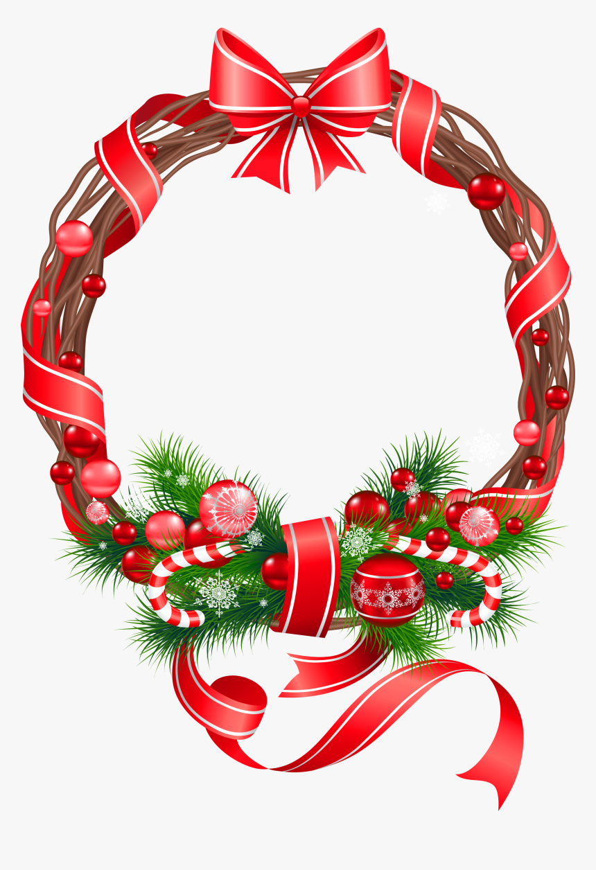 Holly Clipart Watercolor - Red Christmas Wreath Clipart, HD Png Download, Free Download