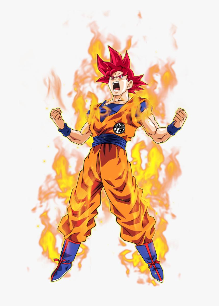 No Caption Provided - Super Saiyan God Goku Png, Transparent Png, Free Download