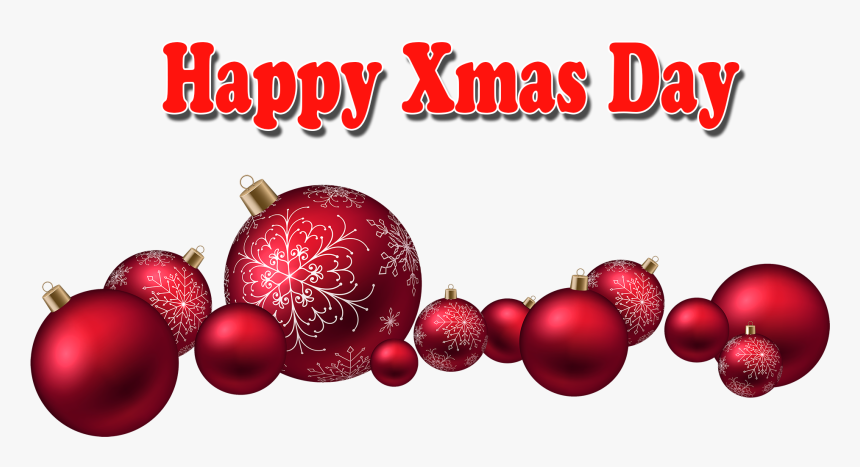 Xmas Day Png Transparent Image Red Christmas Ornaments Png Png Download Kindpng