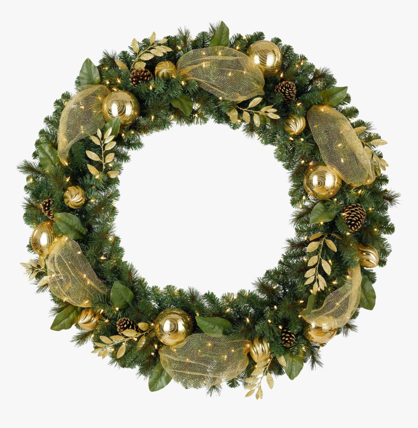 Christmas Wreath Transparent Background - Christmas Wreath Png Transparent, Png Download, Free Download