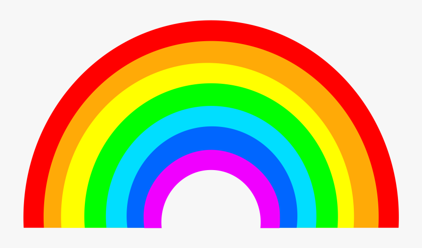 Rainbow Png Image - Rainbow Cartoon, Transparent Png, Free Download