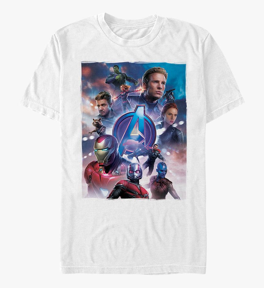 Movie Poster Avengers Endgame Shirt - Avengers Endgame White Shirt, HD Png Download, Free Download