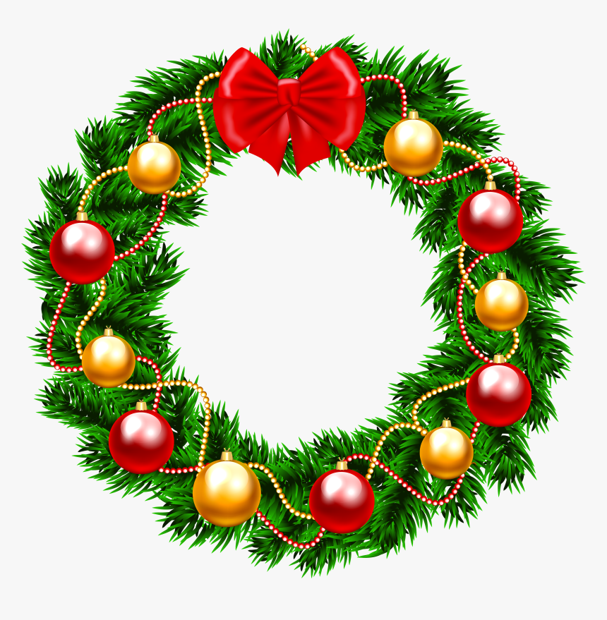 Christmas Wreath Png Clipart Image - Christmas Wreath Png Transparent, Png Download, Free Download