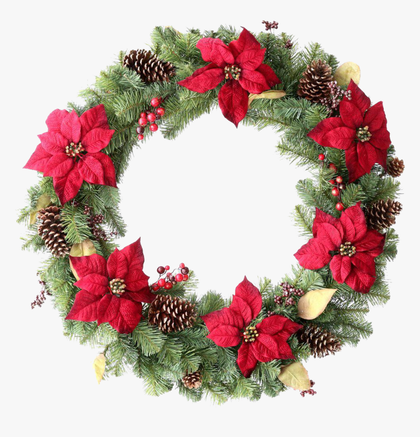 Christmas Reef Png - Transparent Background Christmas Wreath Png, Png Download, Free Download