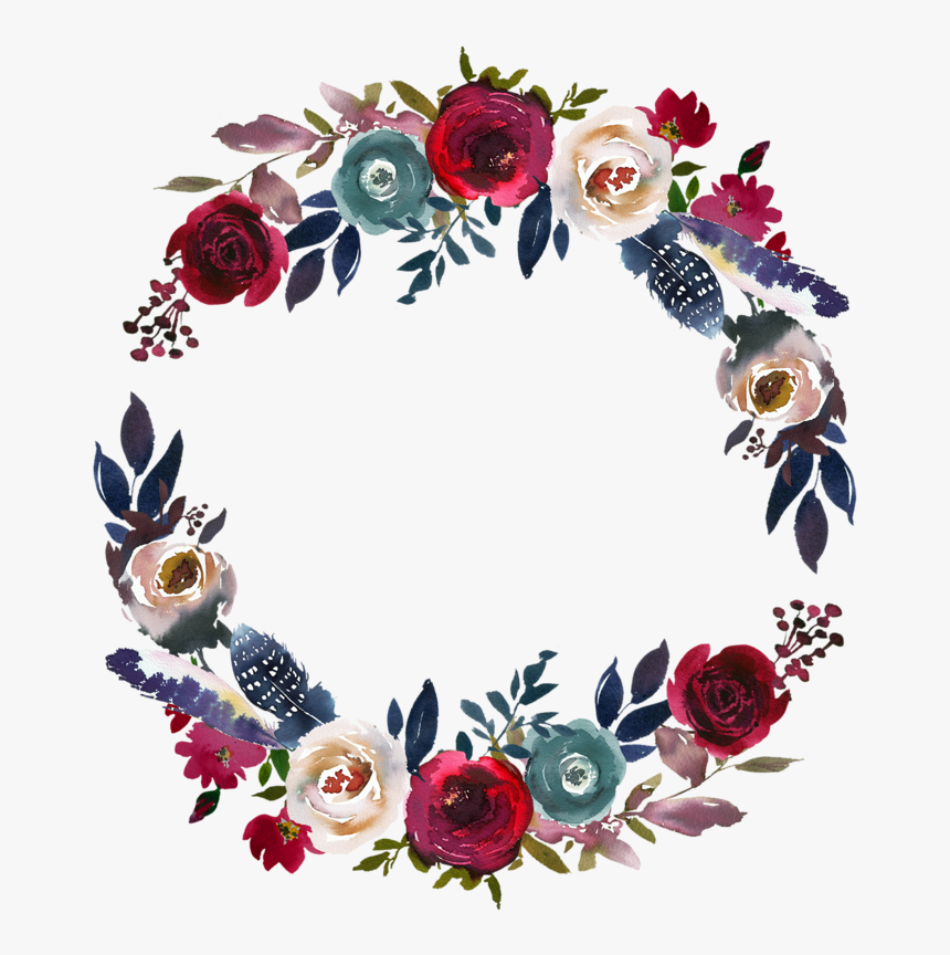 Фото, Автор ✿lili@ ✿ На Яндекс - Clipart Watercolor Floral Wreath, HD Png Download, Free Download