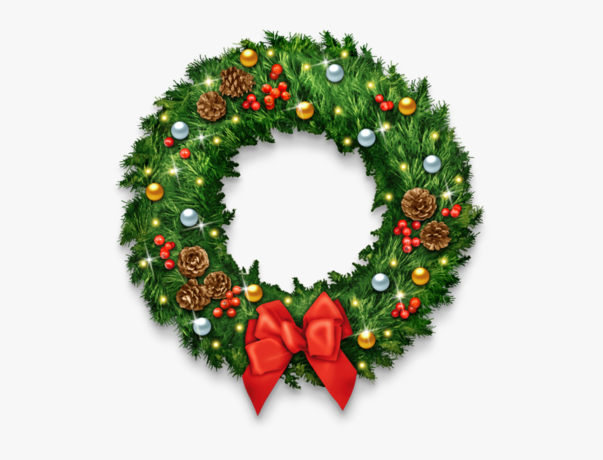 Christmas Wreath Clipart High Resolution - Wreath, HD Png Download, Free Download