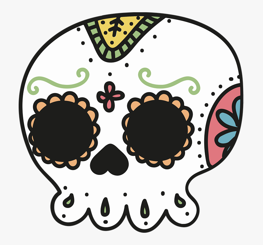Day Of The Dead, Mexico, Skull, Skeleton, Drawing - Mexico Day Of The Dead Drawings, HD Png Download, Free Download