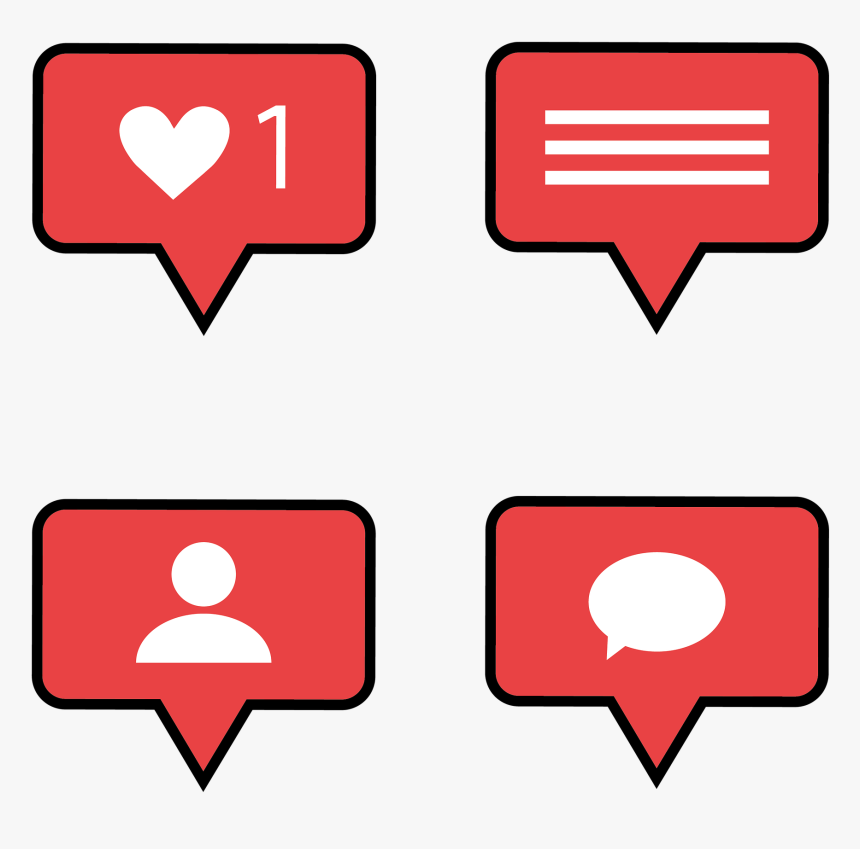 Instagram Like, Instagram Comment, Instagram Follower - Logo Instagram Comment Png, Transparent Png, Free Download