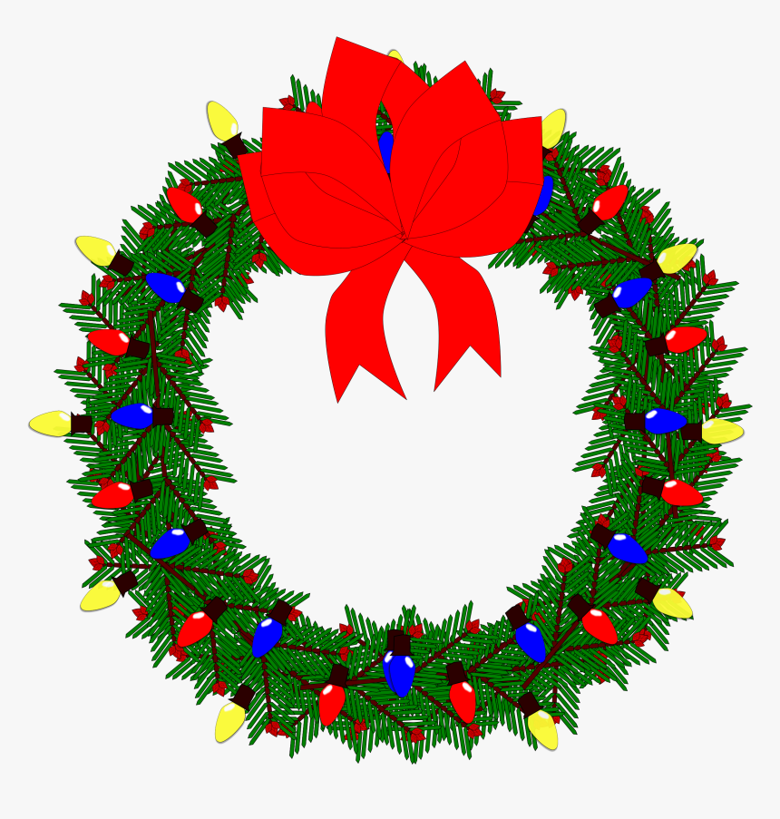 Clip Art Christmas Wreath, HD Png Download, Free Download