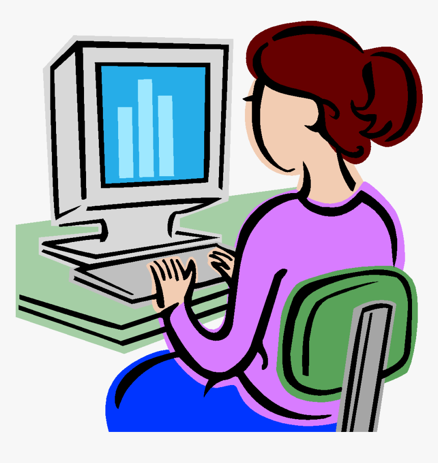Person On Computer Clipart, HD Png Download, Free Download