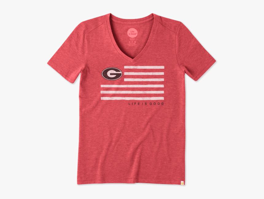 "Women""s Georgia Flag Cool Vee - Asu Mom Shirt, HD Png Download, Free Download"