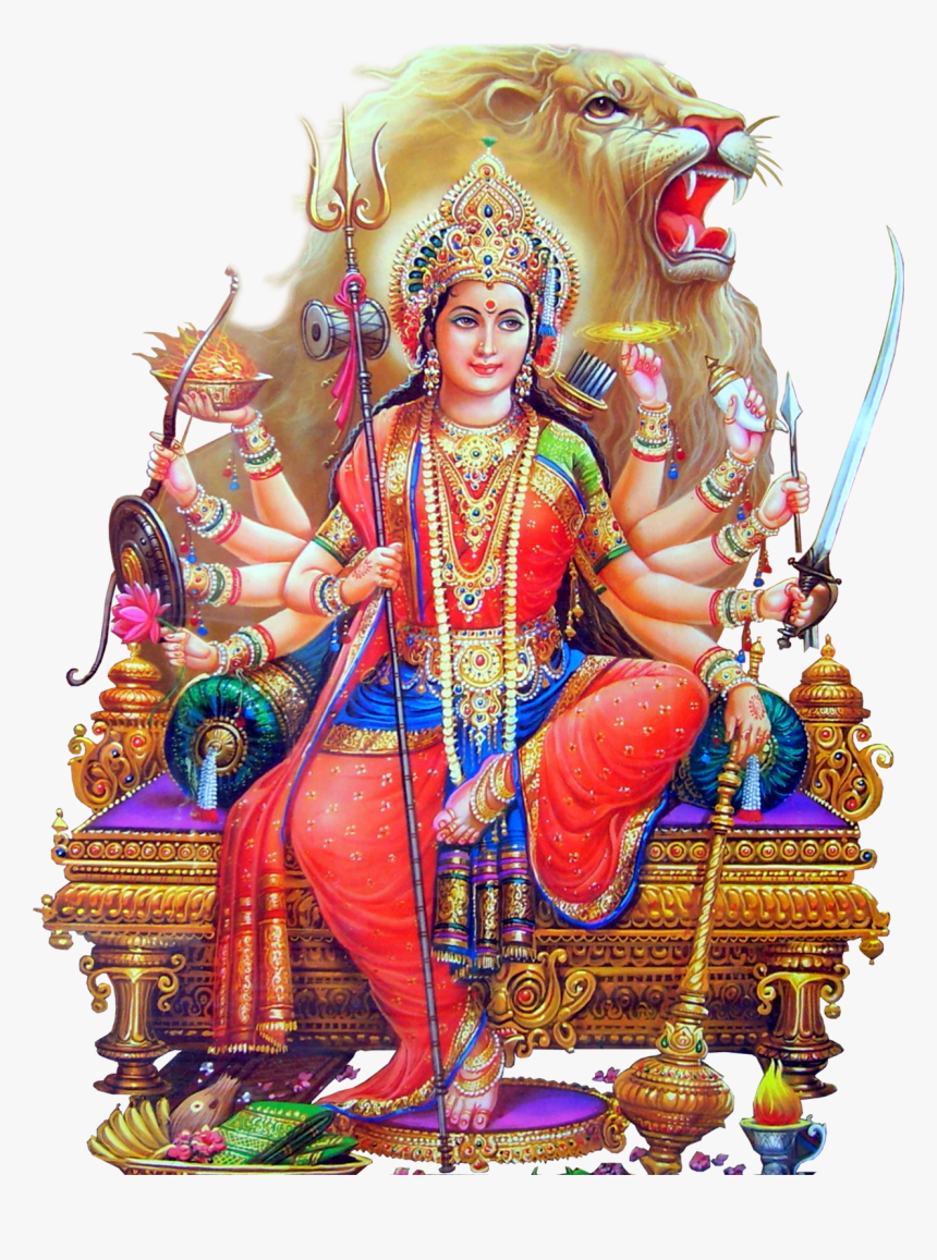 Durga Devi Hd Png - Maa Durga Png Hd, Transparent Png, Free Download