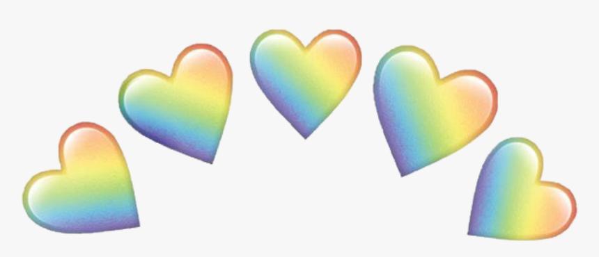 Crown Emoji Png -heart Rainbow Emojis Crown Emoji Hearts - Rainbow Heart Emoji Transparent, Png Download, Free Download