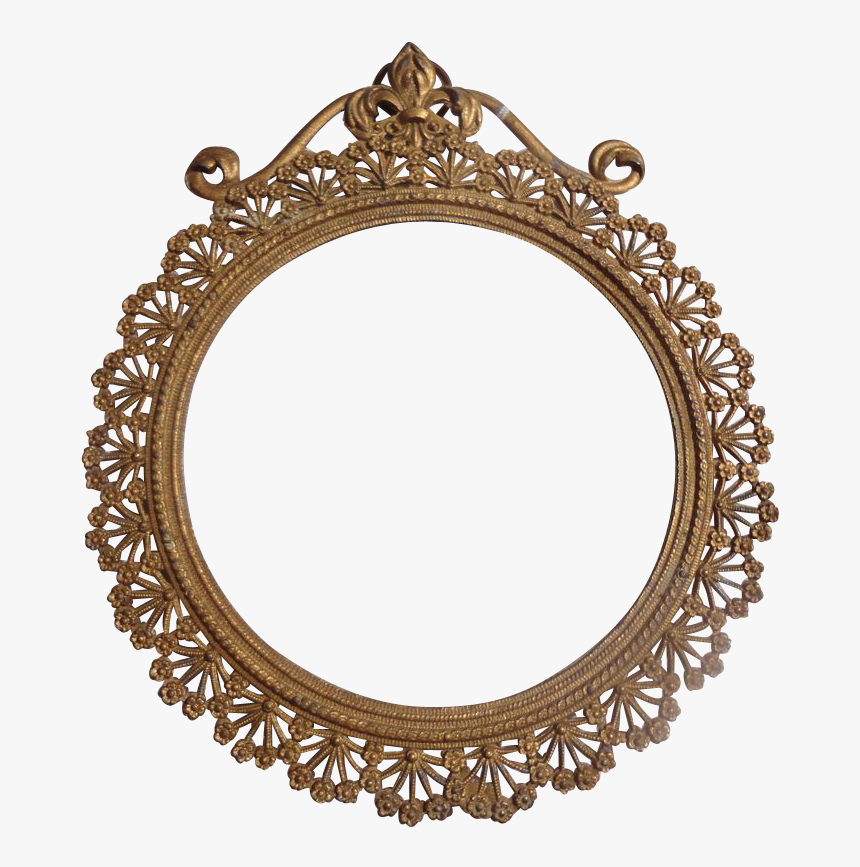 Fancy Oval Frame - Art Nouveau Circle Frames, HD Png Download, Free Download
