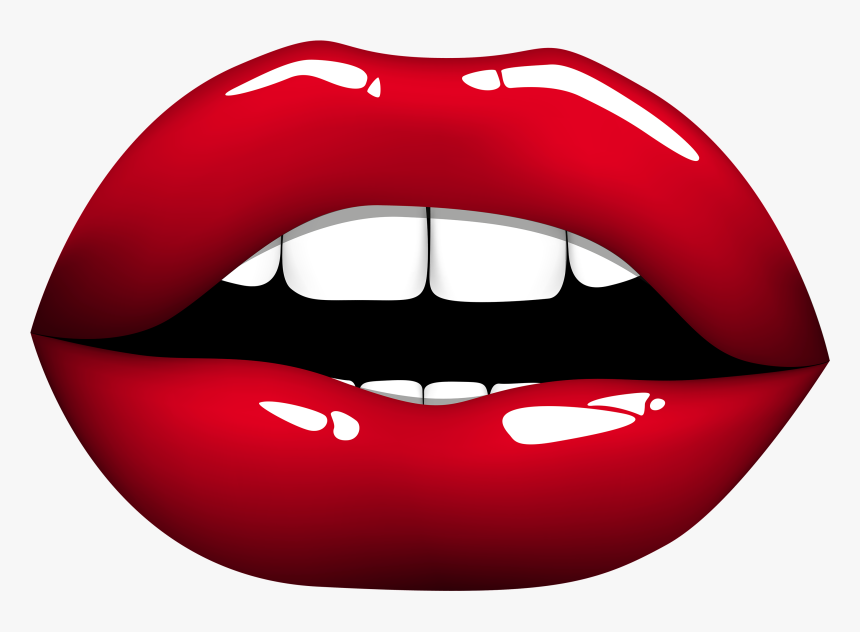 Mouth Cartoon Clipart Free Best On Transparent Png Red Lips Clipart Png Png Download Kindpng