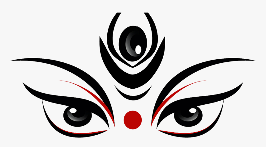 Durga Png Images - Durga Maa Face Drawing, Transparent Png, Free Download