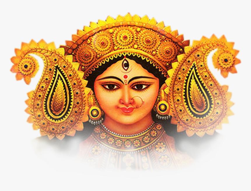 Maa Durga Hd Face Png - Maa Durga Face Png, Transparent Png, Free Download