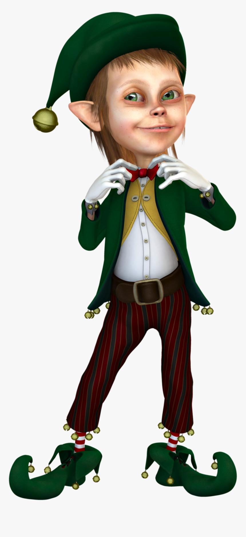 Christmas Elf Transparent Background Png - Christmas Elf 3d Png, Png Download, Free Download