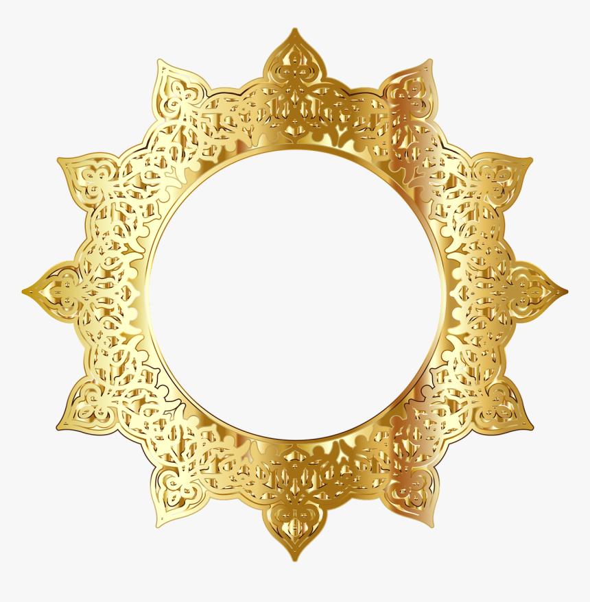 Golden Round Frames Png- - Golden Round Frame Png, Transparent Png, Free Download