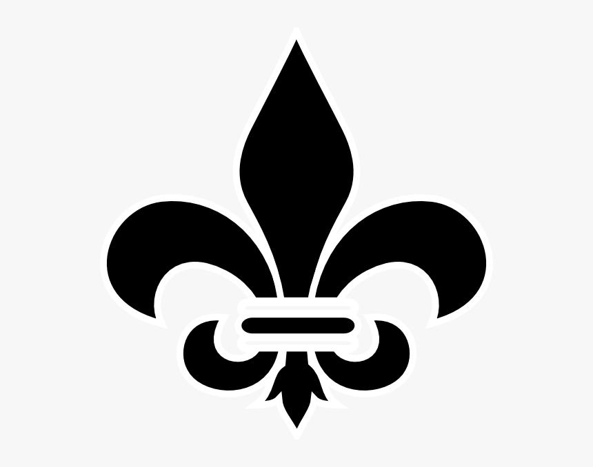 Black Fleur De Lis Clip Art - Fleur De Lis Vector Png, Transparent ...