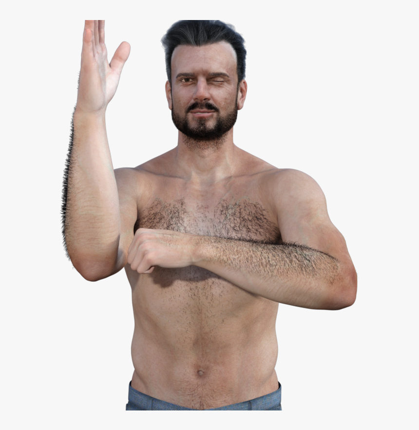 Clip Art Forearm Hair Daz D - Barechested, HD Png Download, Free Download